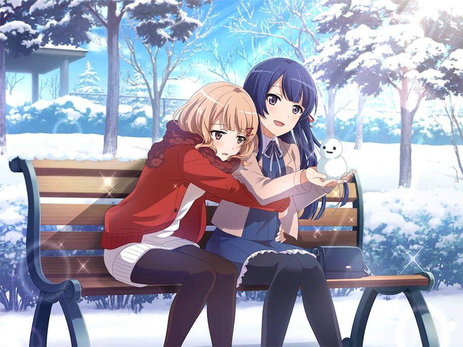 雪の日の小さな友達