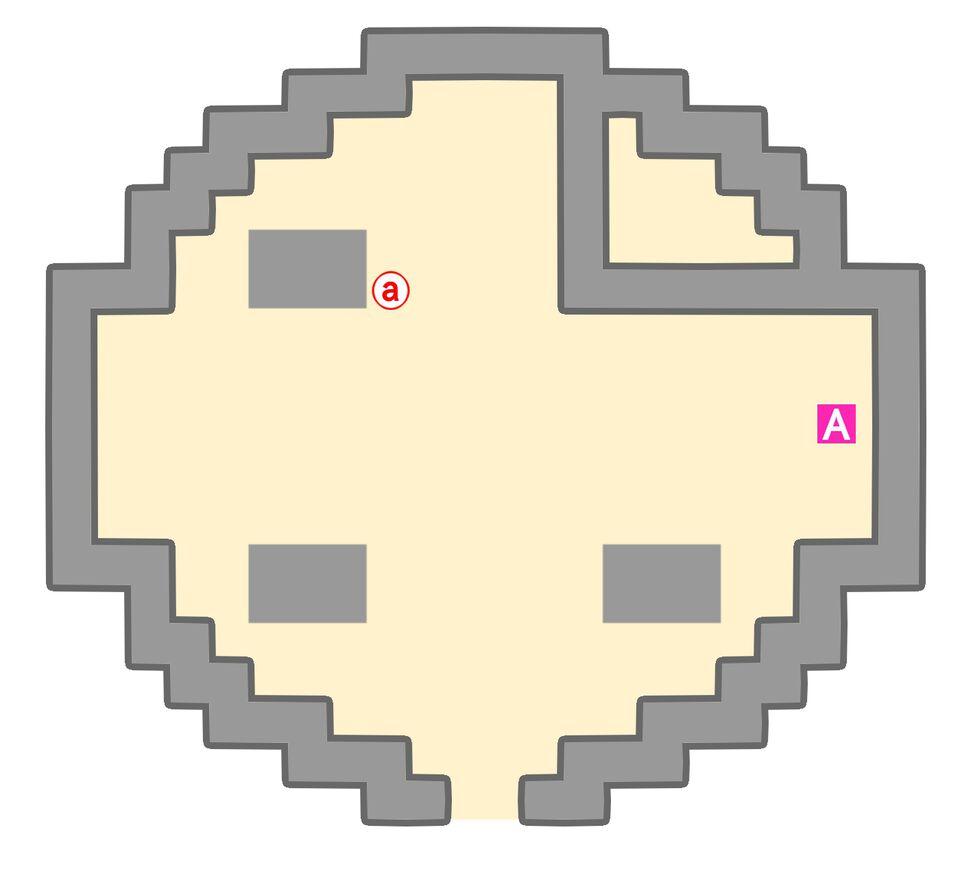 ポケモンタワーのマップ1階