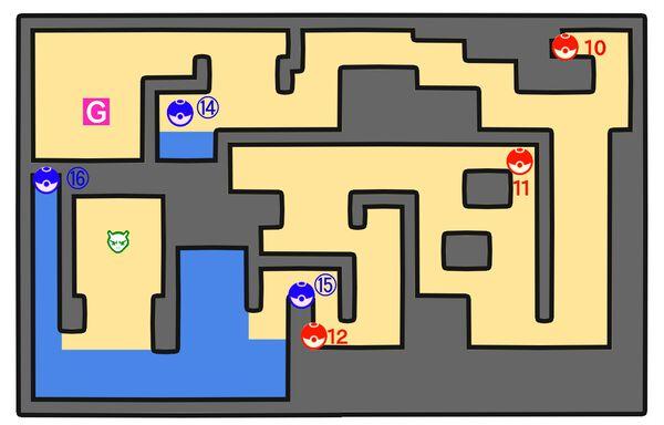 ハナダの洞窟地下1階