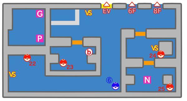 シルフカンパニー 7階のマップ