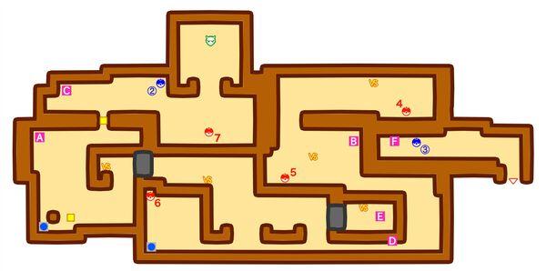 チャンピオンロード2階のマップ