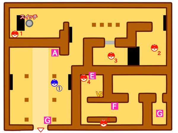 ポケモンやしきのマップ1階
