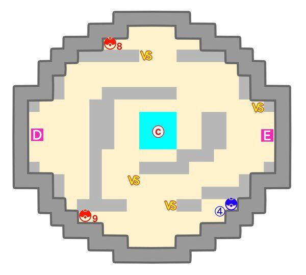 ポケモンタワーのマップ5階