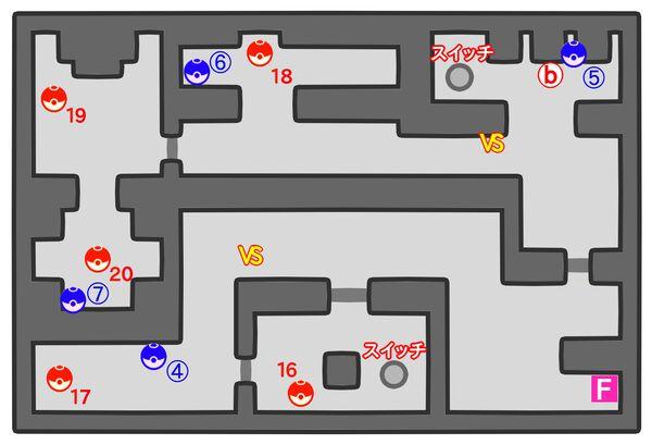 ポケモンやしきのマップ地下1階