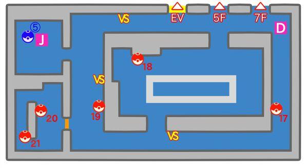 シルフカンパニー 6階のマップ