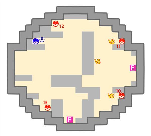 ポケモンタワーのマップ6階