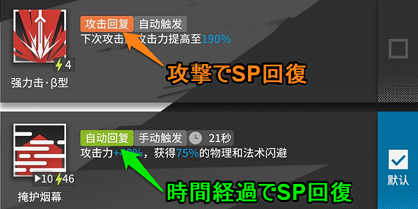 SP回復方法